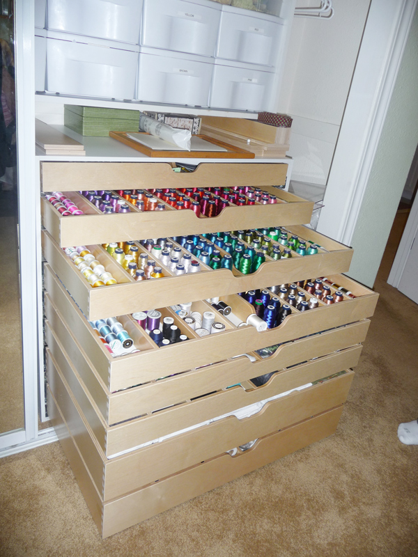 Custom Designed Sewing Cabinet